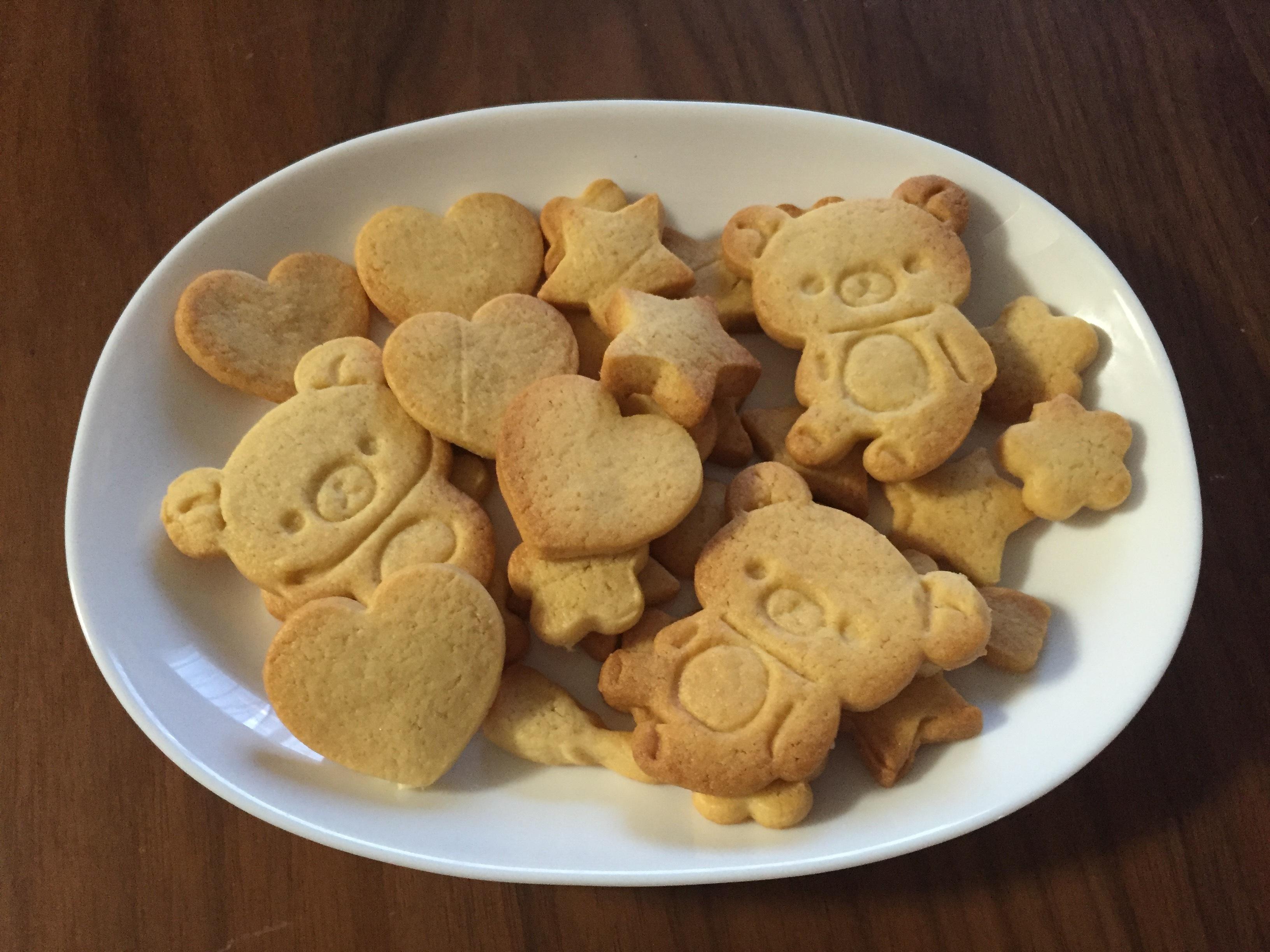 加減 クッキー 焼き 砂糖の違いによるクッキーの焼き上がり